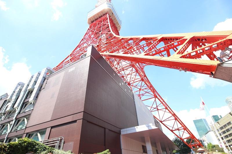 浜松町駅から東京タワーの道のり